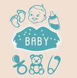 Éléments de bébé Images libres de droits