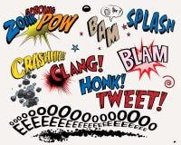 Éléments de bande dessinée Image libre de droits