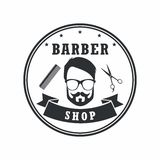 Éléments de Barber Shop Badges Vintage Design Logo, labels, bannière, emblèmes Illustration de vecteur Image libre de droits