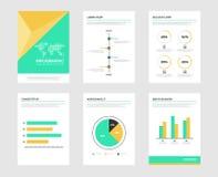 Éléments de brochure d'Infographic pour la visualisation de données commerciales Image stock