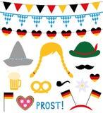 Éléments de cabine et de conception de photo d'Oktoberfest illustration de vecteur