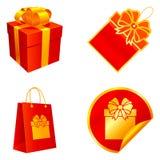 Éléments de cadeau. Images stock