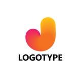 Éléments de calibre de conception d'icône de logo de la lettre J Photos libres de droits