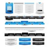 Éléments de calibre de conception de site Web Photos stock