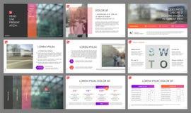 Éléments de calibres de présentation de gradient sur un fond blanc Photos stock