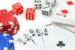 éléments de casino Image libre de droits