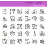 Éléments de chimie illustration de vecteur