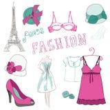 Éléments de chute de mode - pour votre conception Image stock