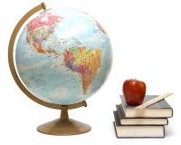 Éléments de classe de géographie Photos stock