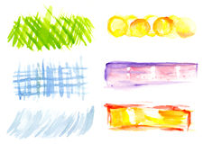Éléments de conception d'aquarelle Photos stock