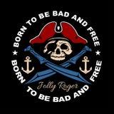 Éléments de conception d'emblème d'insigne de label de bandit Citations de style de Gangsta La vie de voyou Séjour vrai Guerres d Photo libre de droits
