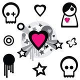 Éléments de conception d'Emo Photo stock