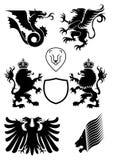 Éléments de conception d'héraldique Images stock