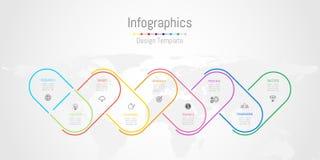 Éléments de conception d'Infographic pour vos données commerciales avec 9 options Images libres de droits
