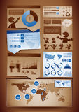 Éléments de conception d'Infographics Images libres de droits