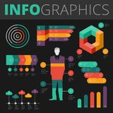 Éléments de conception d'Infographics pour des affaires illustration stock