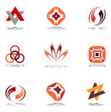 Éléments de conception dans des couleurs chaudes. Positionnement 10. Images stock