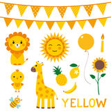 Éléments de conception dans la couleur jaune Photo stock