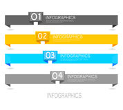 Éléments de conception de bannière d'Infographic Photo stock