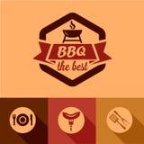 Éléments de conception de BBQ Images stock