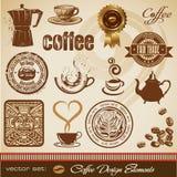Éléments de conception de café Images libres de droits