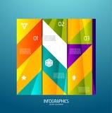 Éléments de conception de drapeau d'Infographic, numérotés listes Images libres de droits
