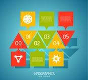 Éléments de conception de drapeau d'Infographic, numérotés listes Photo libre de droits