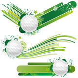 éléments de conception de golf illustration de vecteur