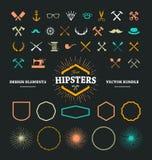 Éléments de conception de hippie Image libre de droits