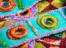 Éléments de conception de mode sur le tissu Photo stock