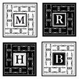 Éléments de conception de monogramme, calibre gracieux Élégant conception de logo de schéma Signe d'affaires, identité pour le re Image stock