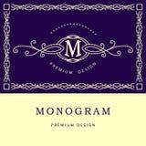 Éléments de conception de monogramme, calibre gracieux Photographie stock libre de droits
