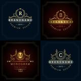 Éléments de conception de monogramme, calibre gracieux Photos libres de droits