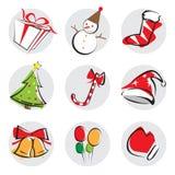 Éléments de conception de Noël Images stock