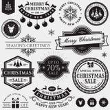Éléments de conception de Noël et de nouvelle année Photos stock