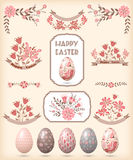 Éléments de conception de Pâques Image stock