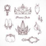 Éléments de conception de princesse Photo libre de droits