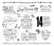 Éléments de conception de Saint-Valentin Photos libres de droits