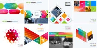 Éléments de conception de vecteur d'affaires pour la disposition graphique Résumé moderne Photo stock