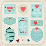 Éléments de conception de vecteur de décorations de jour de valentines Photographie stock