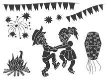 Éléments de conception de vecteur de Festa Junina Image libre de droits