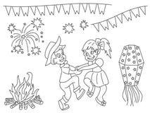 Éléments de conception de vecteur de Festa Junina illustration stock