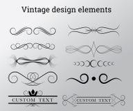Éléments de conception de vecteur de vintage Images stock