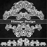 Éléments de conception de vintage sur un fond grunge Illustration Stock
