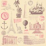 Éléments de conception de voyage de vintage illustration libre de droits