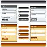 Éléments de conception de Web Photos stock