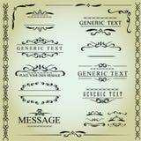 Éléments de conception et décoration calligraphiques de page - ensemble de vecteur Image libre de droits