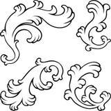 Éléments de conception florale de vintage illustration de vecteur