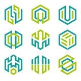 Éléments 3 de conception formés par hexagone Photos libres de droits