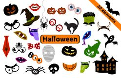 Éléments de conception de Halloween pour des appui verticaux de partie illustration de vecteur